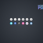 social icons free template psd vk facebook twitter linked in
