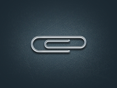 paperclip free vector psd icon illustration