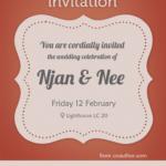 wedding invitation free template psd