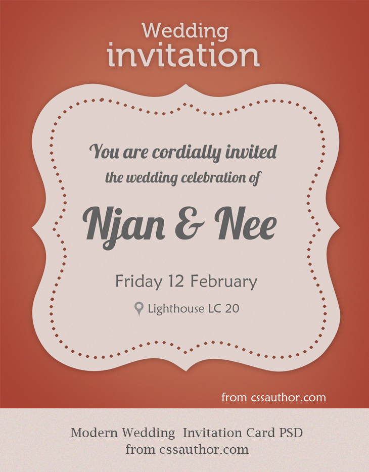 wedding invitation free template psd