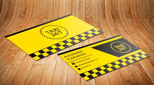 визитки такси шаблоны psd бесплатно