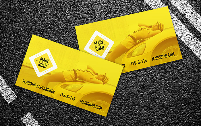 business card for taxi free psd template print high resolution