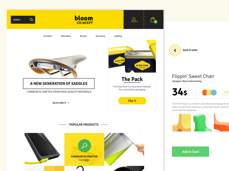 E-store psd template e-commerce free