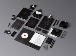 dark branding template psd исходник шаблон