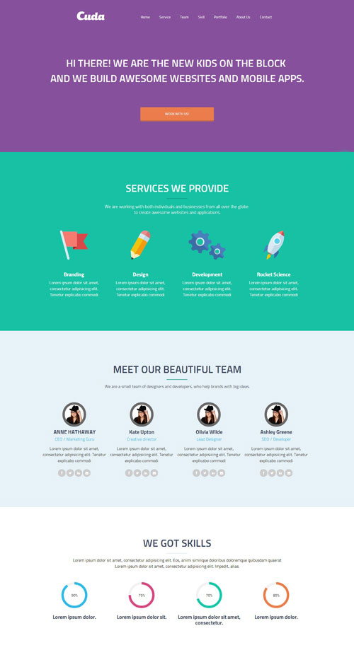 free one page wordpress theme with parallax effect