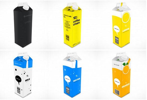 tetra pack template design psd mockup free