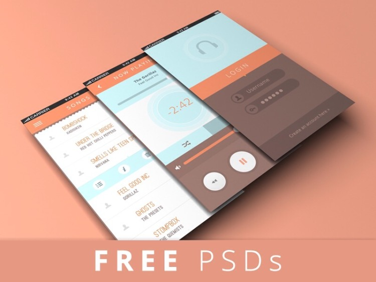 iPhone 5 design screen mockup мокап скачать psd