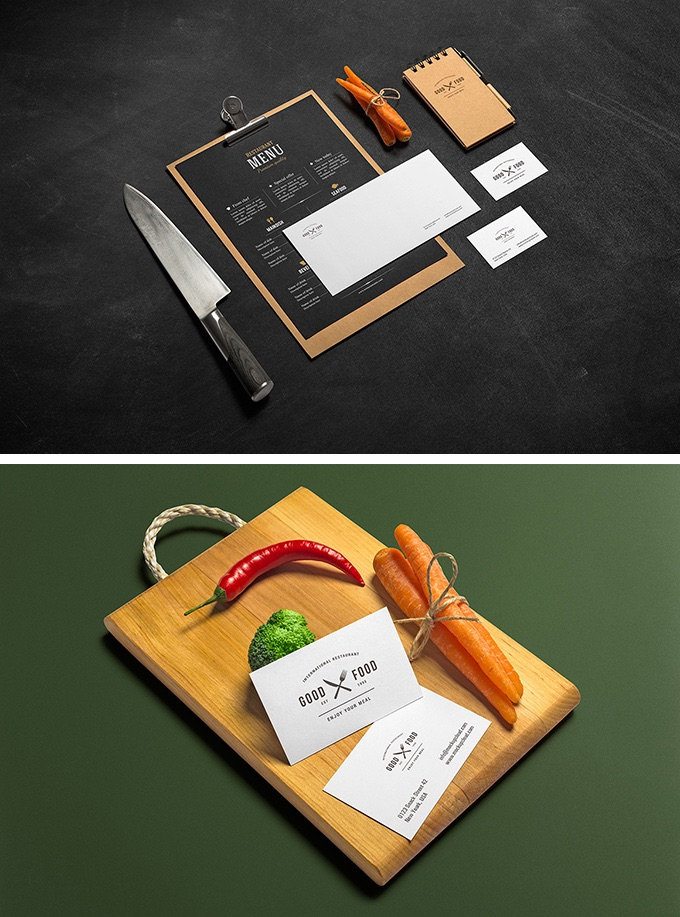 restaurant, cafe, kitchen branding free mockup