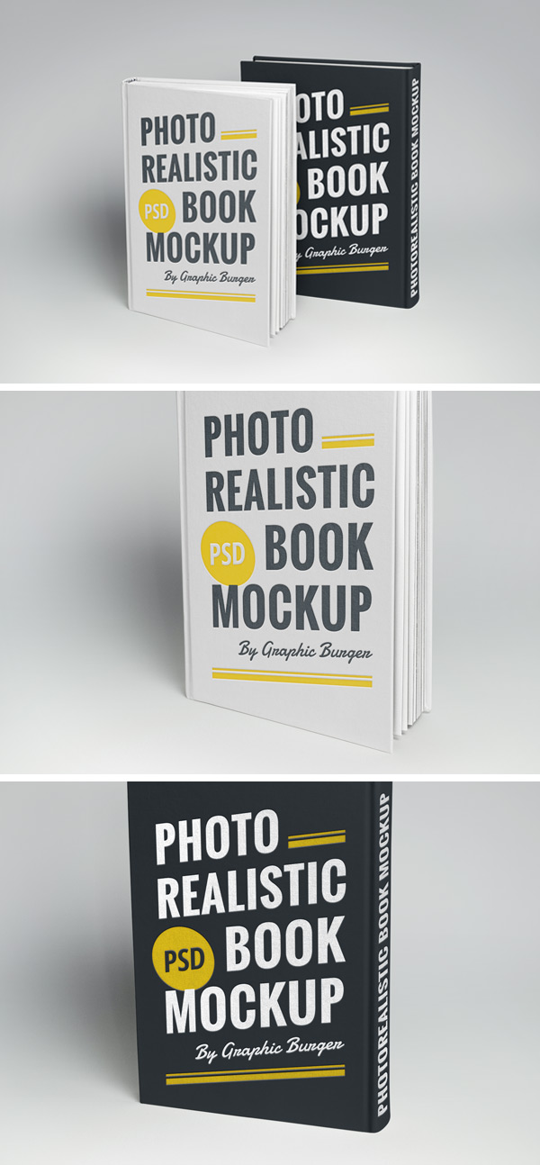 free book mock up download hardcover