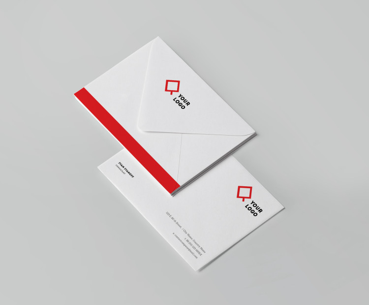 envelope template psd