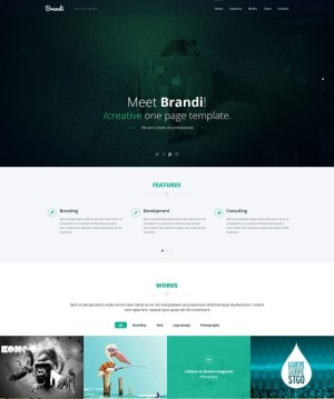 landing page free Psd template download