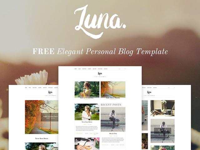light blog theme, free psd source downloading