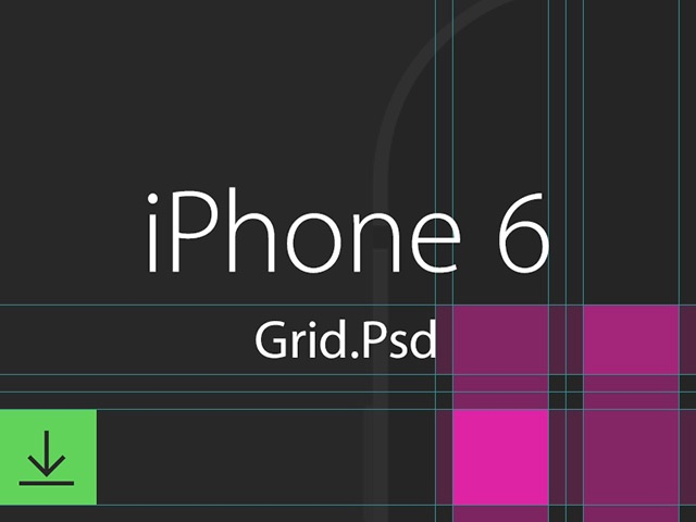 iPhone6 grid system template free