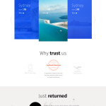travel agency website template free download
