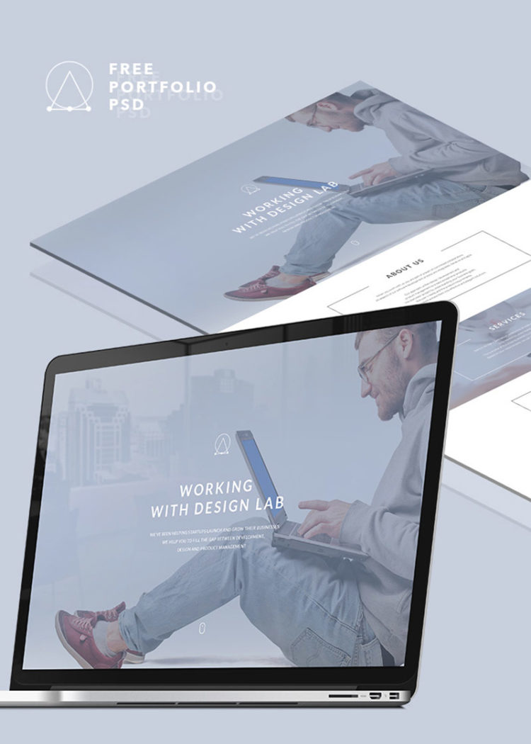 portfolio free psd website