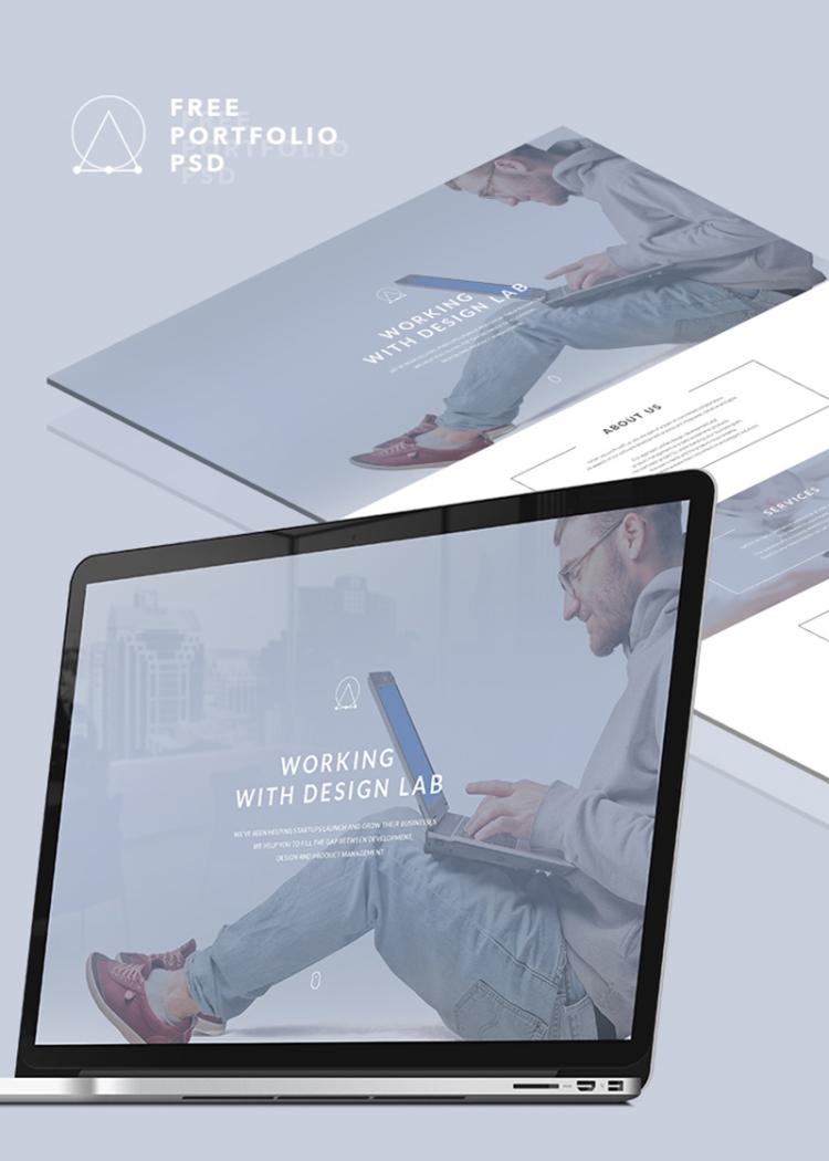 portfolio free psd website