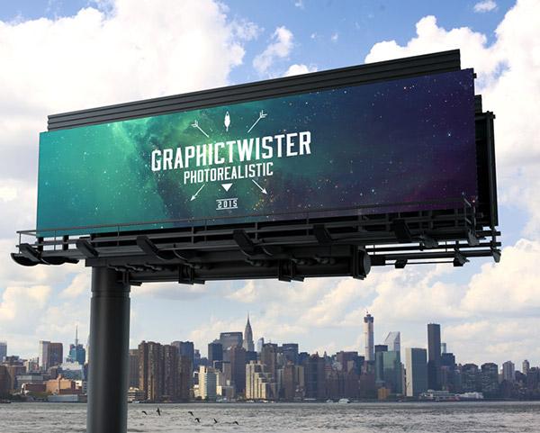 outfoor billboard free mockup