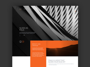 dark modern website free template psd