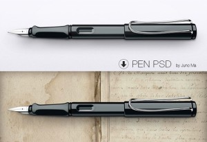 pen free mockup psd. Download