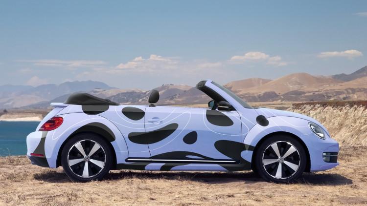 car branding mock up psd free, WV Beetle download