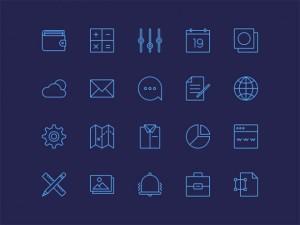 thin line icons free