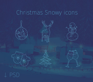 christmas thin free icons new year psd