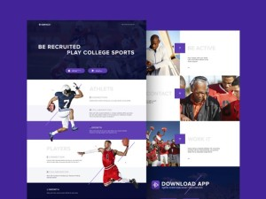 free sport landing page psd