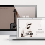 music free psd website template
