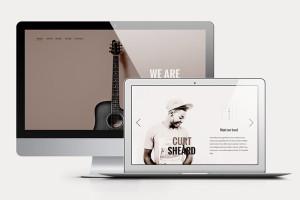 music free psd website template