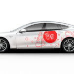 car branding mockup tesla psd free