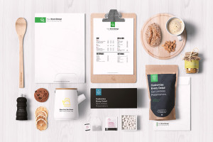 free restaurant cafe mock up psd