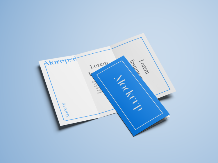 trifold mock up free psd download