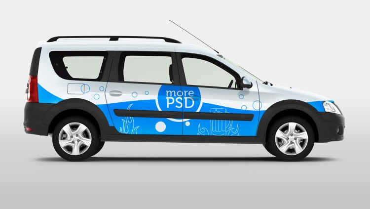 mini van free mock up psd
