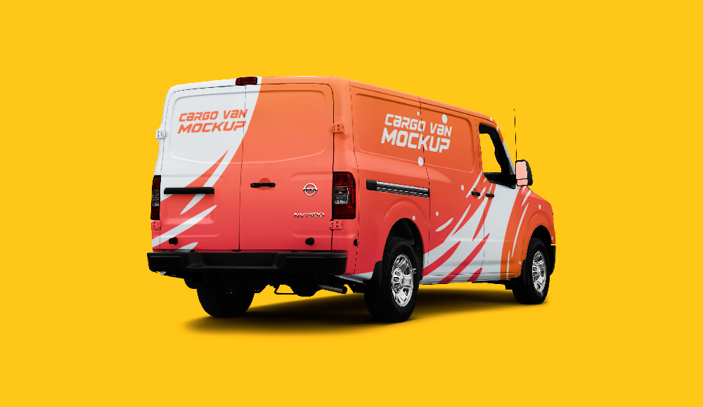 van mock up free psd