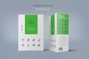 box package free mock up psd cardboard