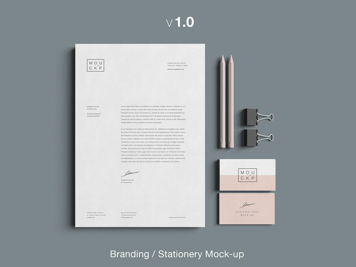 branding stationery mock up free