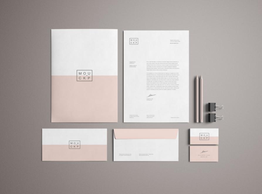 branding free mockup stationery