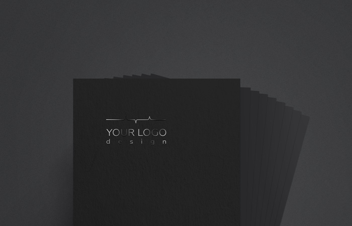 black spot uv business card free mockup psd
