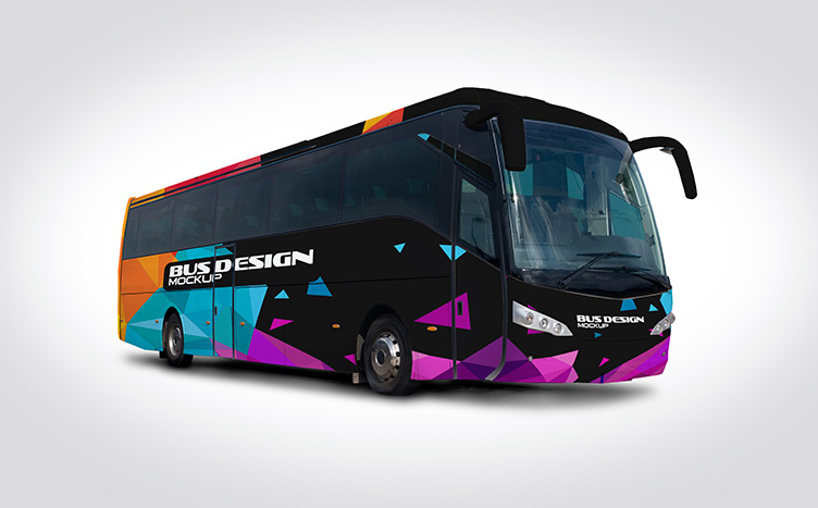 bus mock up free psd