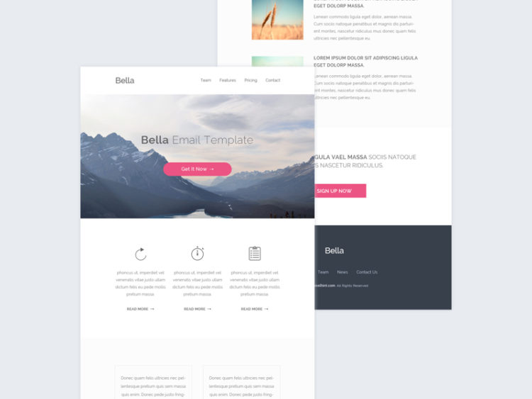 free good design email template biggest library of free psd