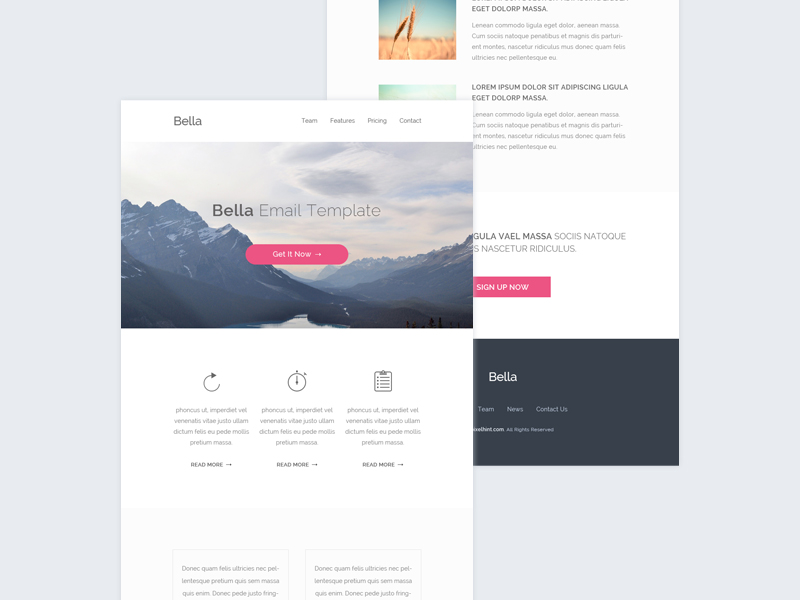 free good design email template