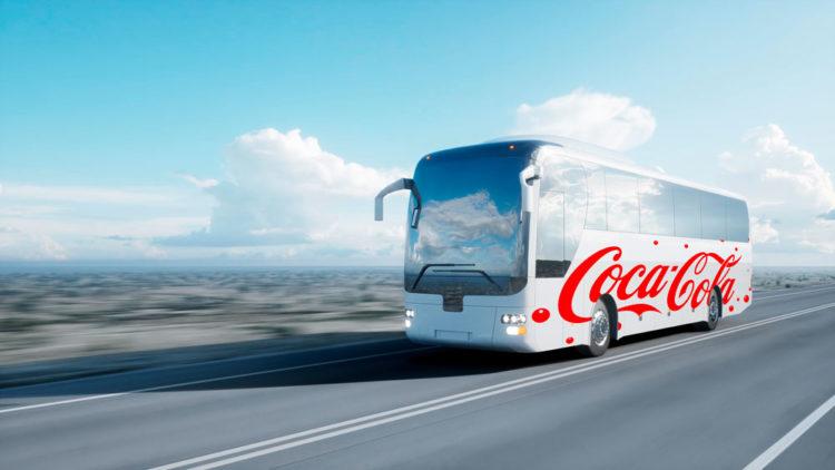 travel bus branding mockup free psd