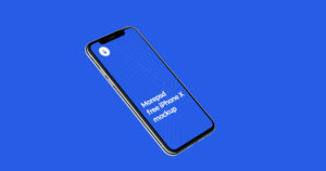 iphone X mockup free photoshop psd
