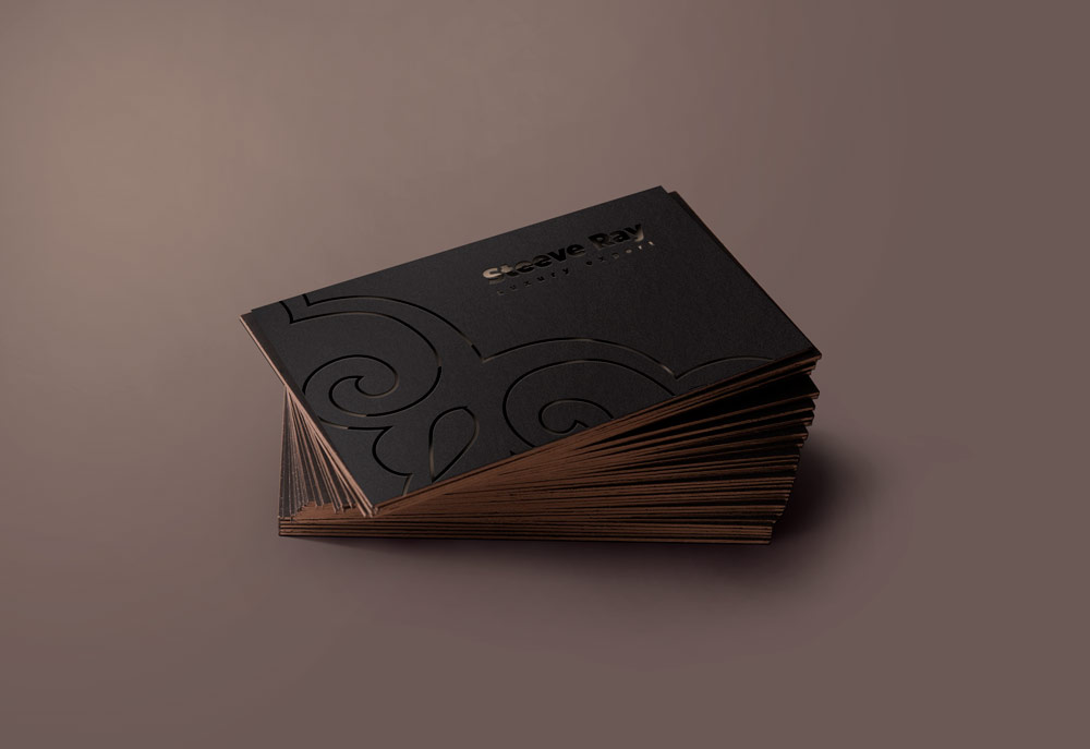 free business card mockup dark style black vip luxury style