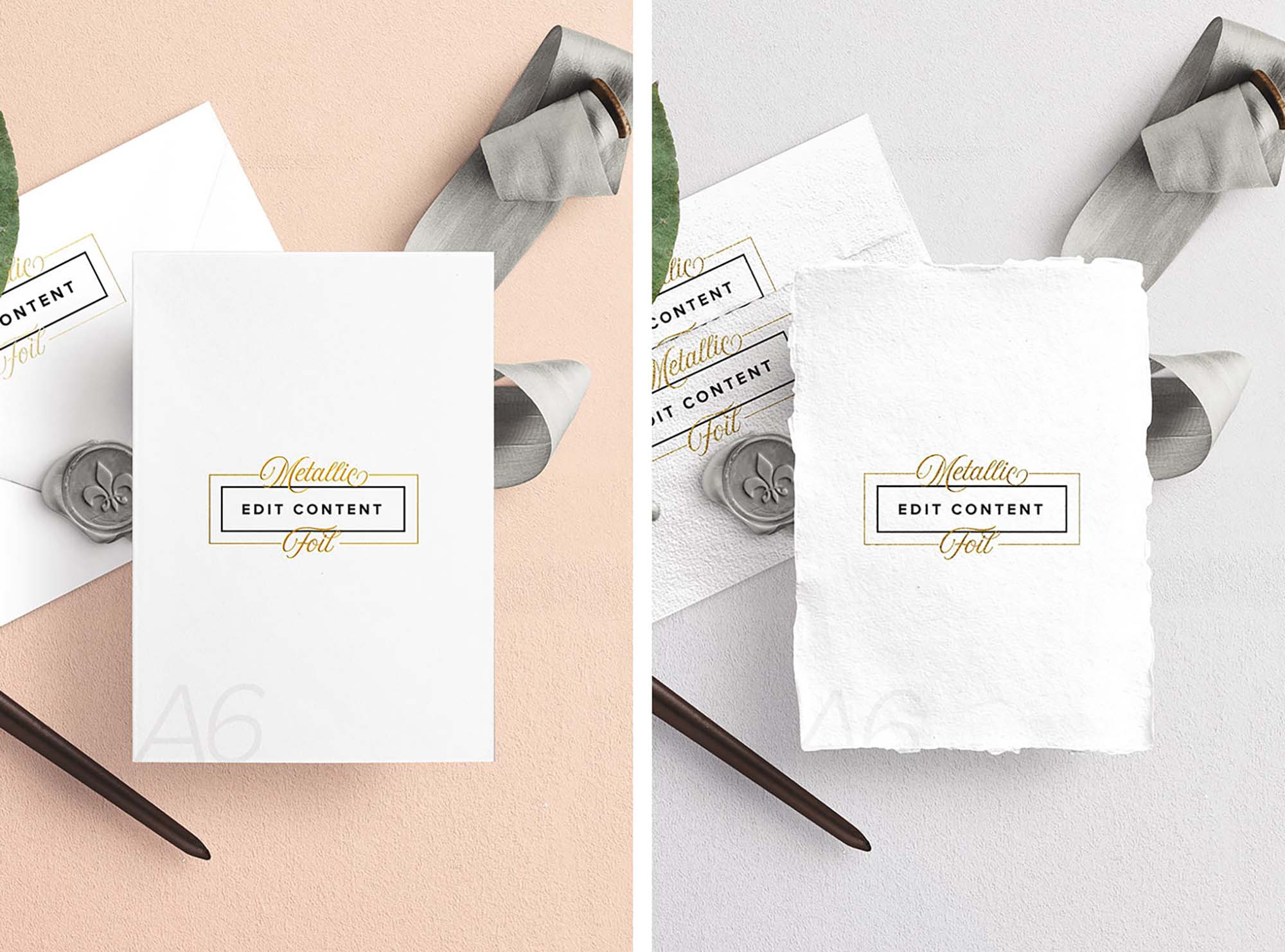 wedding invitation free mockup