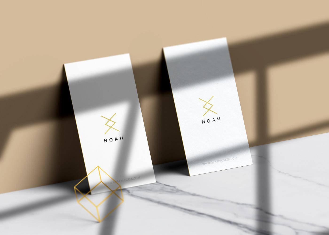 minimal business cards mockup free