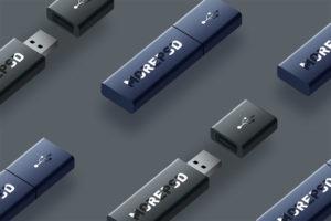 free flash drive memory mockup psd