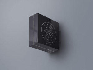 Wall Sign board mockup free