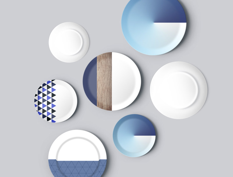 plate kitchen mockup plates design free download