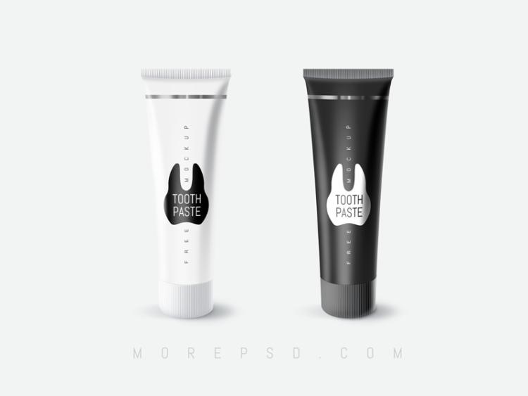 toothpaste mockup free tube